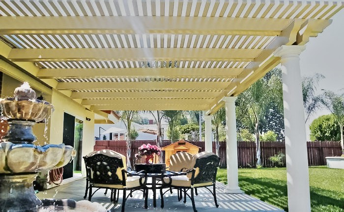 Lattice Alumawood Patio Cover California