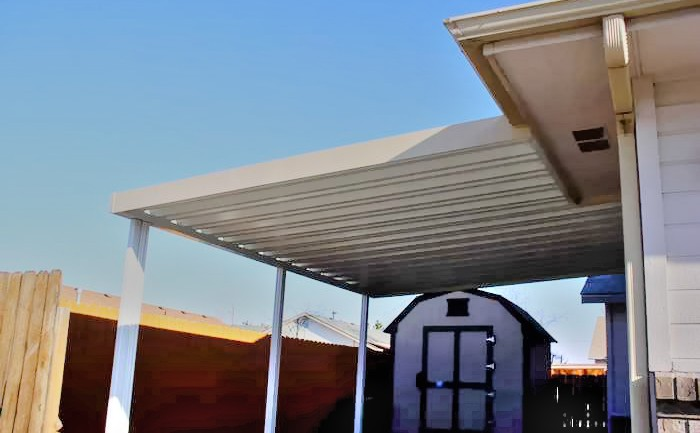 Solid Alumawood, Patio Cover Attached, California