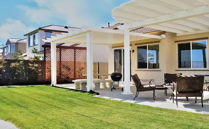 Double Lattice Patio Cover California