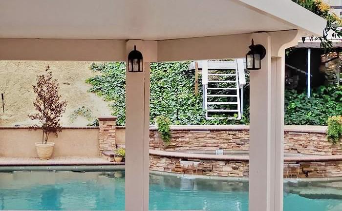 Pool Side Patio Cover Solid, Alumawood