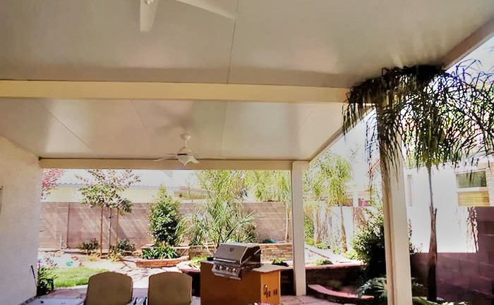 Insulated Roof Patio Cover With Lighting, California