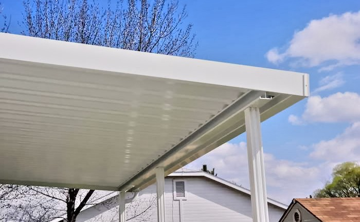 Solid Aluminum Patio Cover