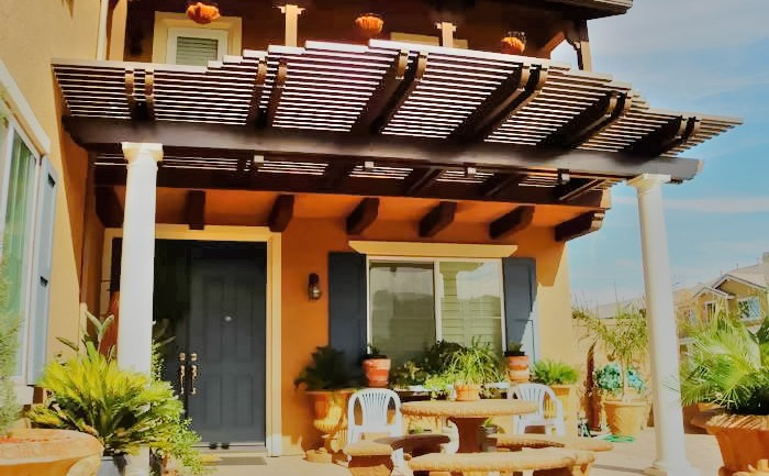 Lattice Insulated Patio Cover, California